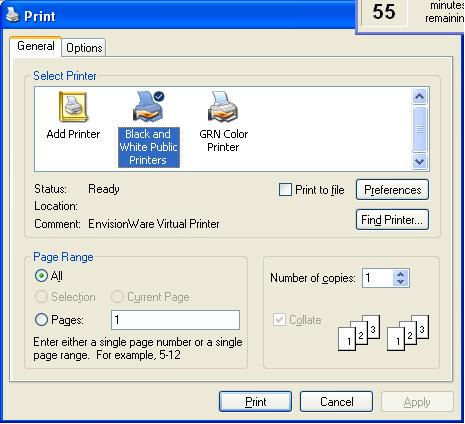If The Customer Uses Internet Explorer Printer Icon Button To Send A Print Command They Will Not See Dialog Box Described Above